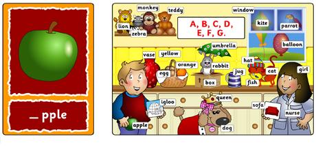 Abecedario en inglés online de teachkidsenglish.com