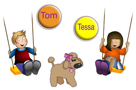 Tessa and Tom, Teach kids English