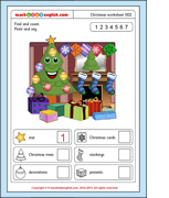 Free Christmas worksheets from Teach Kids English