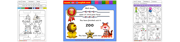 Teach Kids English Worksheets and Song.