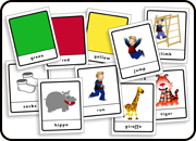 Playing cards from Teach Kids English